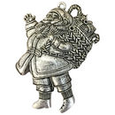 Santa Claus Pendant in Silver Pewter