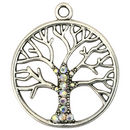 Silver Tree of Life Charm Pewter