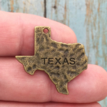 Texas State Charm Bronze Pewter