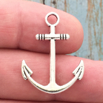 Silver Anchor Charm Pewter