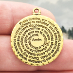 Spanish Prayer Charm Gold Pewter