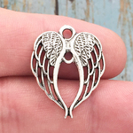 Angel Wings Charm Silver Pewter