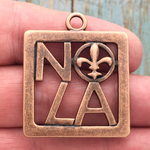 New Orleans Charm NOLA Copper Pewter