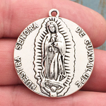 Our Lady of Guadalupe Medal Silver Pewter