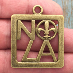 New Orleans Charm NOLA Bronze Pewter