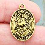 St George Medal Gold Pewter