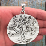 Tree of Life Pendant Silver Pewter