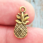 Gold Pineapple Charm Pewter