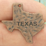 Texas State Charm Copper Pewter