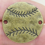 Baseball Connectors in Bronze Pewter