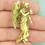 Gold Angel Brooch Pewter