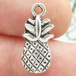 Pineapple Charms Bulk Silver Pewter Double Sided