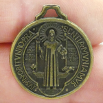St Benedict Medal Bulk in Bronze Pewter Medium