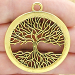 Tree of Life Pendant Wholesale in Gold Pewter