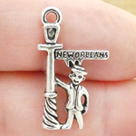 New Orleans Charms Wholesale in Silver Pewter