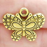 Butterfly Charms Wholesale in Antique Gold Pewter