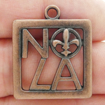 New Orleans Charm NOLA Copper Pewter Medium