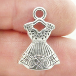 Dress Charms Silver Pewter