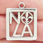 New Orleans Charm NOLA Silver Pewter Medium
