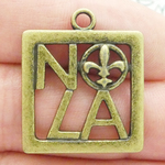 New Orleans Charm NOLA Bronze Pewter Medium