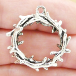 Crown of Thorns Charms Wholesale Silver Pewter