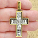 Gold Ornate Cross Crucifix Pendants Bulk with Antique Silver Pewter