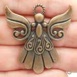 Guardian Angel Charms Bulk in Antique Copper Pewter