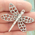 Dragonfly Pendants Wholesale Antique Silver Pewter