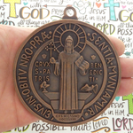 St Benedict Medal Door Ornament Copper Pewter Extra Large