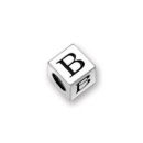Pewter Letter Beads B 4.5mm Small Silver Pewter Alphabet Beads