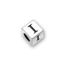 4.5mm Square Pewter Alphabet Beads Image