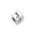 Pewter Letter Beads J 4.5mm Small Silver Pewter Alphabet Beads