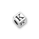 Pewter Letter Beads K 4.5mm Small Silver Pewter Alphabet Beads