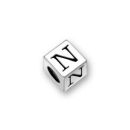 Pewter Letter Beads N 4.5mm Small Silver Pewter Alphabet Beads
