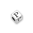 Pewter Letter Beads P 4.5mm Small Silver Pewter Alphabet Beads