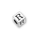 Pewter Letter Beads R 4.5mm Small Silver Pewter Alphabet Beads