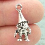 Garden Gnome Charms Wholesale in Silver Pewter