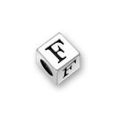 Silver Pewter Alphabet Beads F 5.5mm Pewter Letter Beads