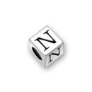 Silver Pewter Alphabet Beads N 5.5mm Pewter Letter Beads