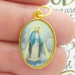 Our Lady of Grace Medal in Gold Pewter