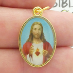 Sacred Heart of Jesus Medals Wholesale in Gold Pewter