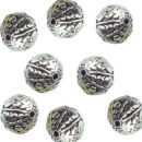 Round 10-mm Bali Beads in Antique Silver Pewter Beads 5 Pieces Per Package
