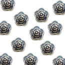 Flower Beads 7-mm Spacer Beads in Antique Silver Pewter Beads 20 Pieces Per Package