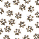 Daisy Bead 6.5-mm Spacer Beads in Antique Silver Pewter Beads 50 Pieces Per Package
