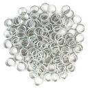 Silver Plated Open Jump Rings 8mm 18 Gauge Bulk pack of 200