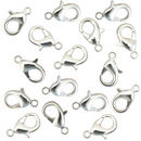 Silver Lobster Clasp 15mm x 9mm in Base Metal Bag of 10 Pieces