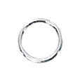 Split Rings in Sterling Silver 5mm Diameter Sold in Package of 1 Piece