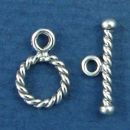 Toggle Clasp Rope Tiny Set for Sterling Silver Toggle Bracelet