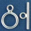 Toggle Clasp Polished with Bar Medium for Sterling Silver Toggle Bracelet