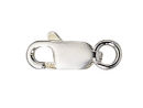 Sterling Silver Lobster Claw Clasp with Ring Tiny 4mm x 10mm